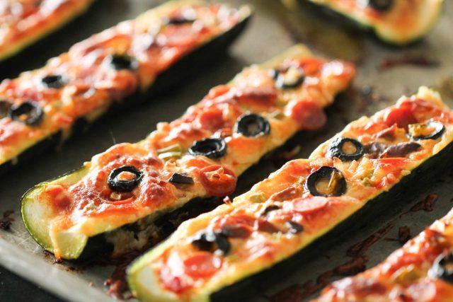 Baked Pizza Stuffed Zucchini Boats Recipe Zucchini