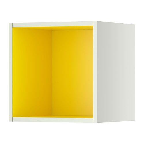 Wandregal würfel ikea  IKEA - TUTEMO, Regal, weiß/gelb, 40x37x40 cm, , Kann als ...