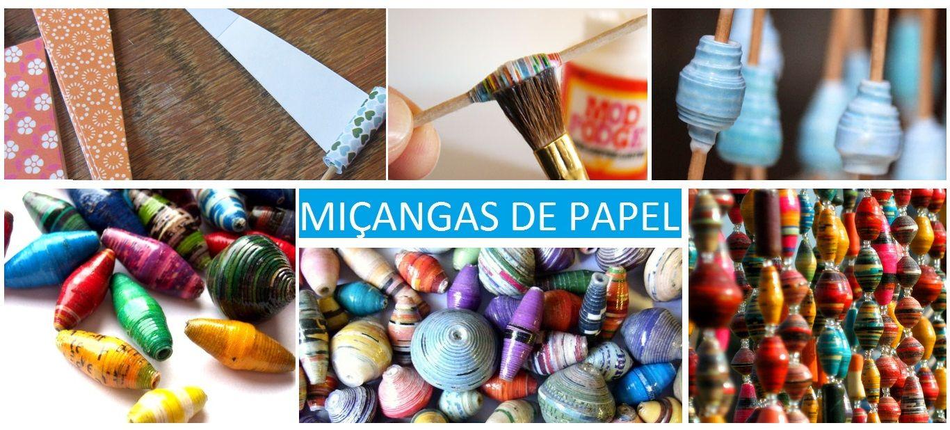 Miçangas de papel http://coletaneaideias.blogspot.com.br/
