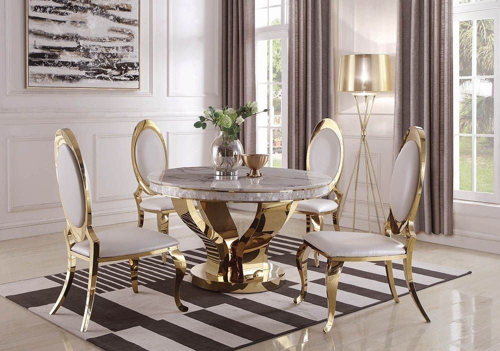 35++ Gold dining chairs set of 4 Ideas