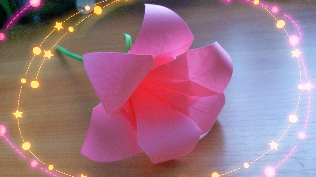 Diy Easy Crafts How To Make Cute 6 Petals Origami Lily Paper