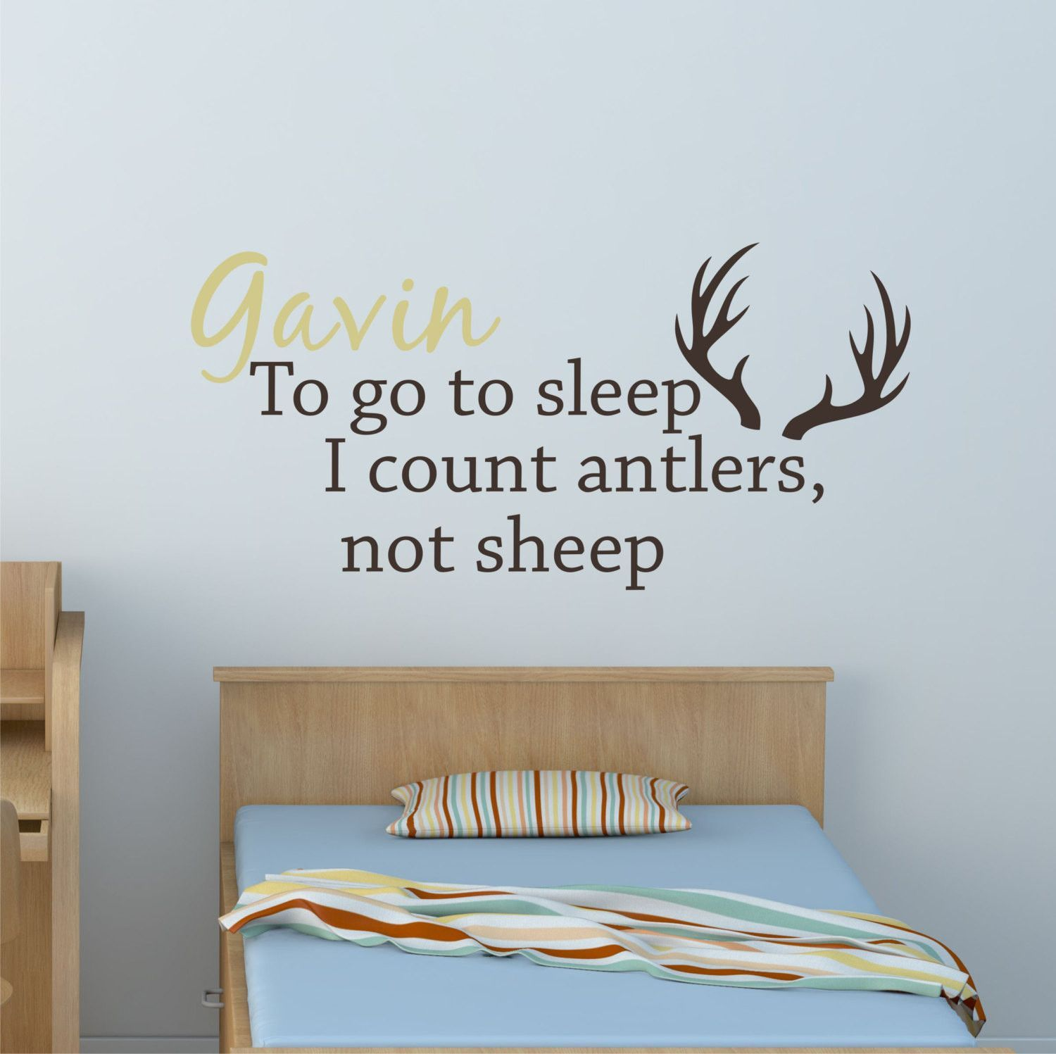 Hunting Nursery Decal By Decor Designs Decals Deer Antler Decal - Custom vinyl wall decals deer