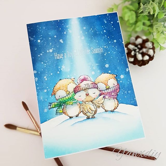 Yan X Diy On Instagram One Layer Card Yay Wish You All A Merry Sample Christmas Cards Handmade Card Making Card Craft