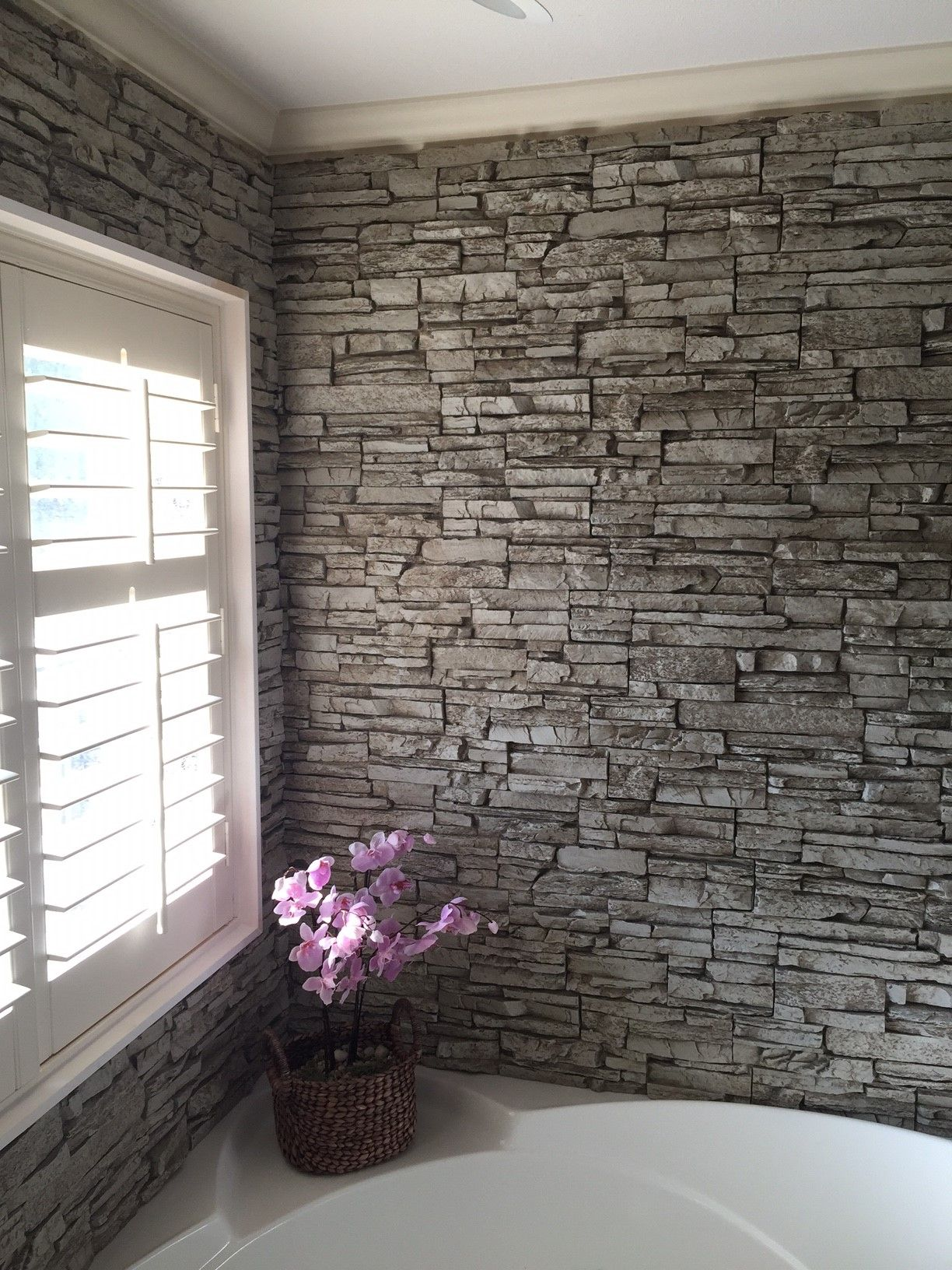 Bathroom Design Norwich gorgeous bathtub wall surround created with norwich stacked stone