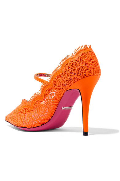 b90d121720c Gucci - Virginia Crystal-embellished Corded Lace Mary Jane Pumps ...