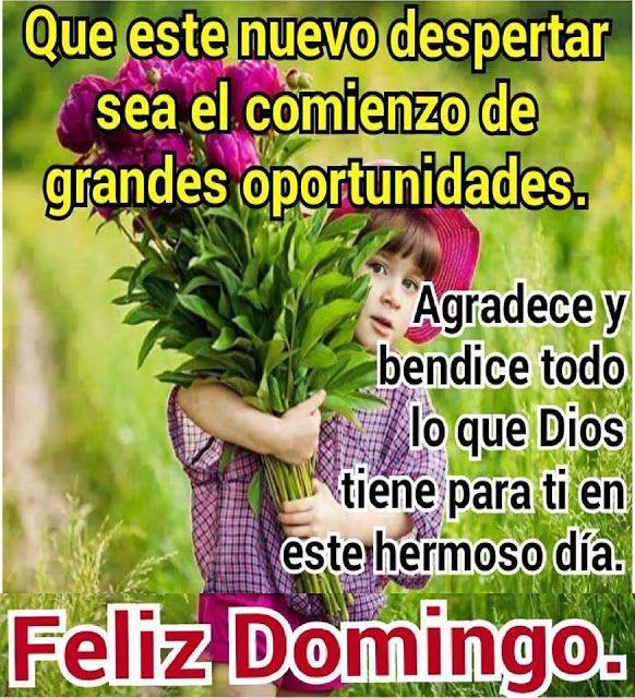 Centro Cristiano Para La Familia Buenos Dias Mensaje De Feliz Domingo Feliz Y Bendecido Domingo Feliz Domingo