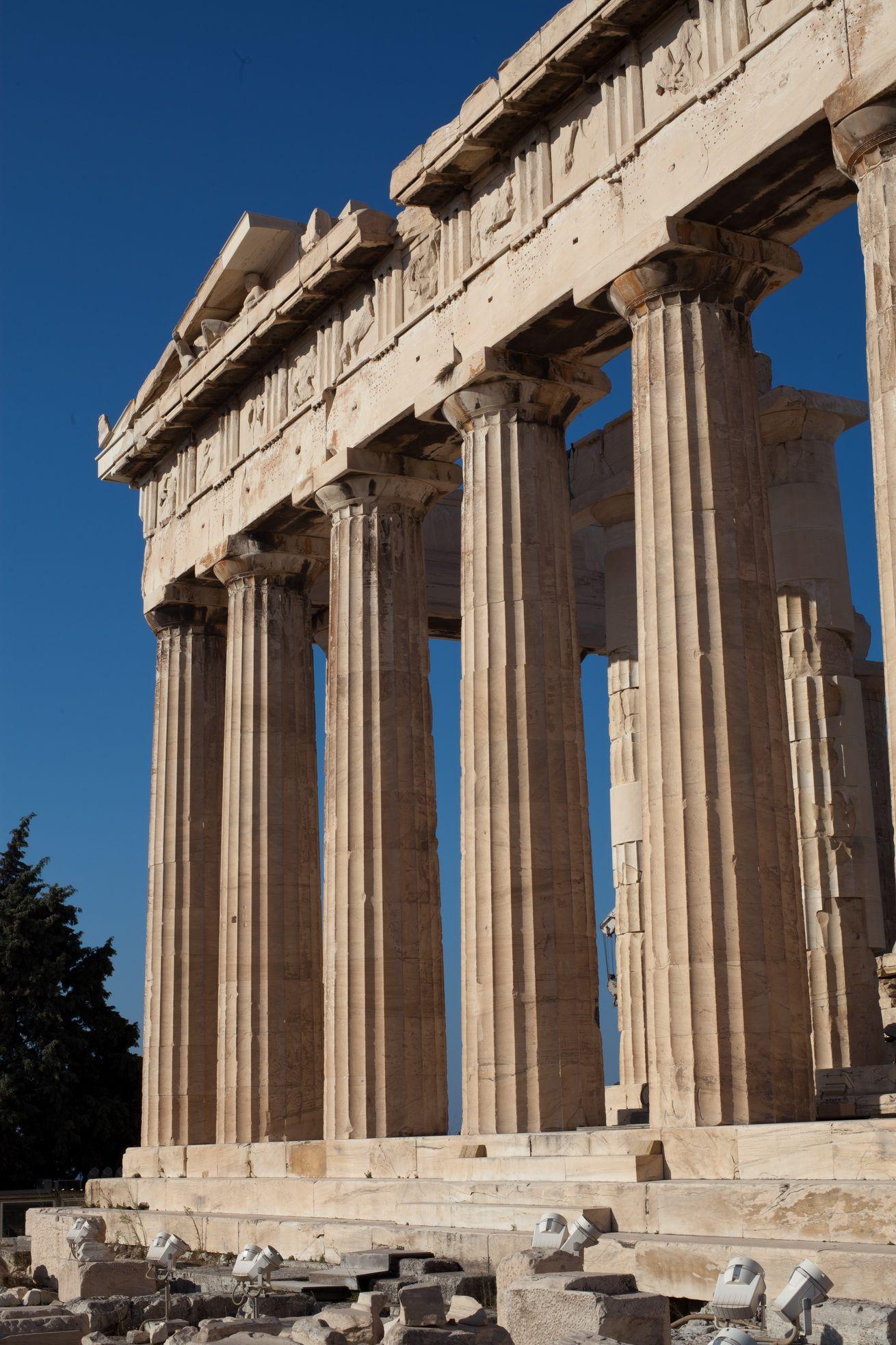 Site 01 Parthenon Columns Or Pillars Acropolis Athens