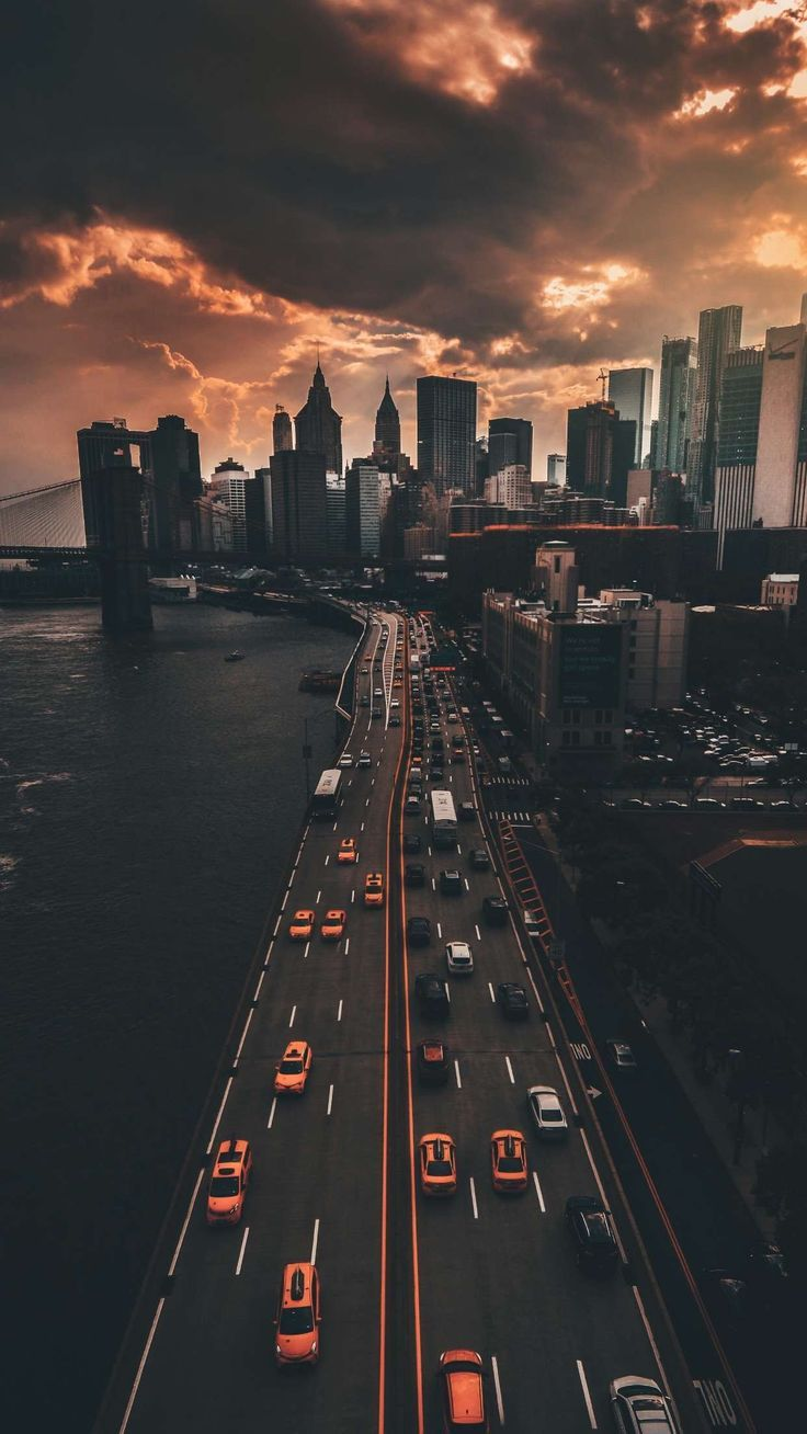 big city lights #lockscreen #wallpaper