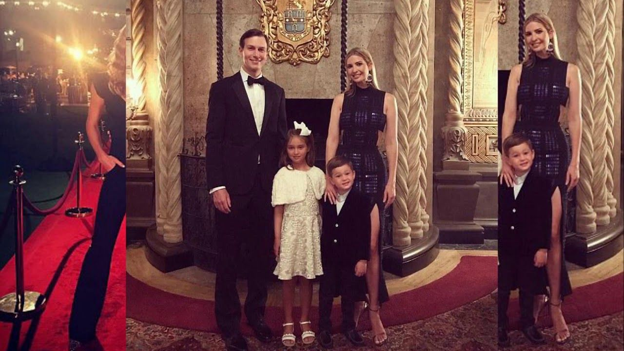 The Trumps arrive swanky Mar a Lago New Year's Eve bash