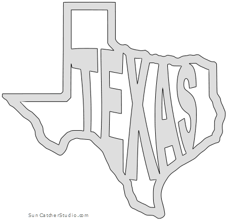 Texas Map Outline Printable State Shape Stencil Pattern Scroll Saw Patterns Scroll Saw Patterns Free Scroll Saw