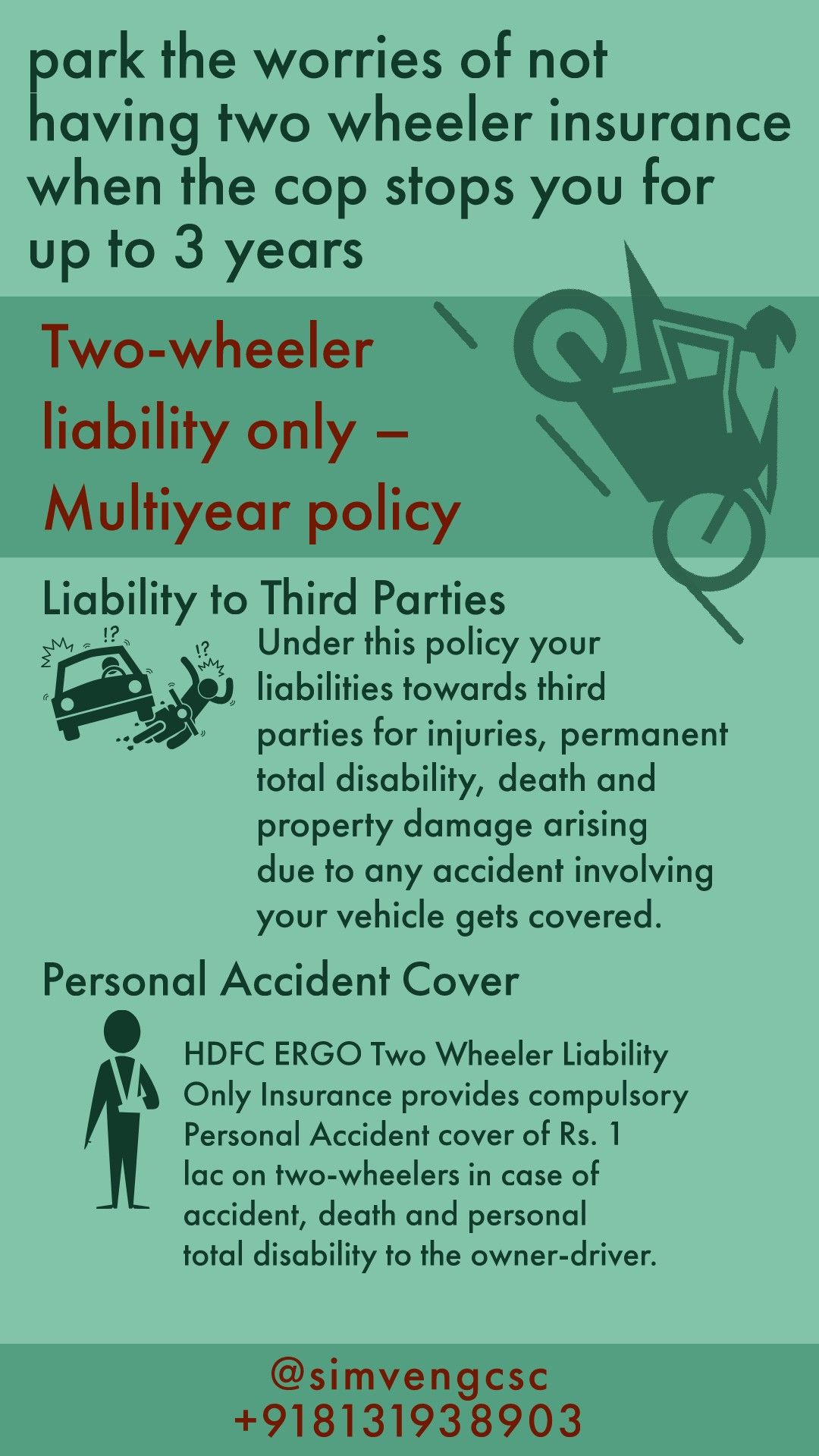 Contact to buy Twowheeler liability only Multiyear