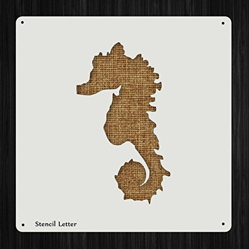 Seahorse Style 80, DIY Plastic Stencil Acrylic Mylar Reusable * Click image for more details.