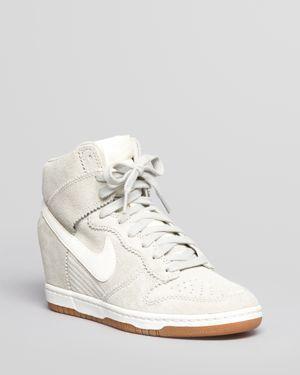 Nike High Top Wedge Sneakers - Dunk Sky