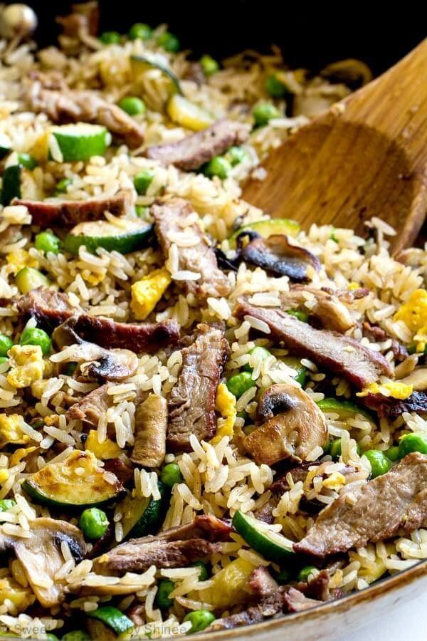 Leftover Steak Fried Rice Recipe Leftover Steak Grilled Steak