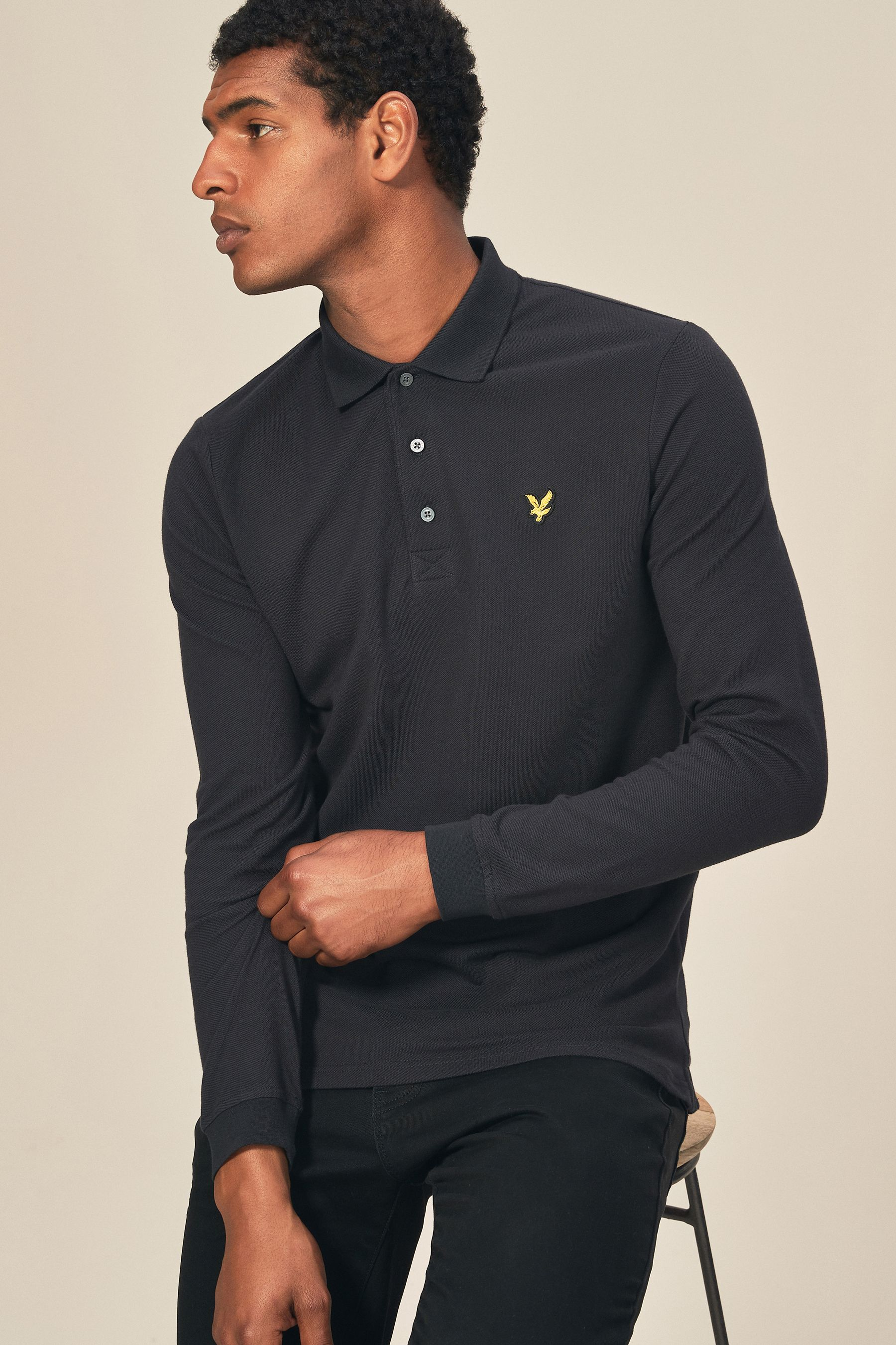 rock-bottom price the best shades of Mens Lyle & Scott Long Sleeve Poloshirt - Grey in 2019 ...