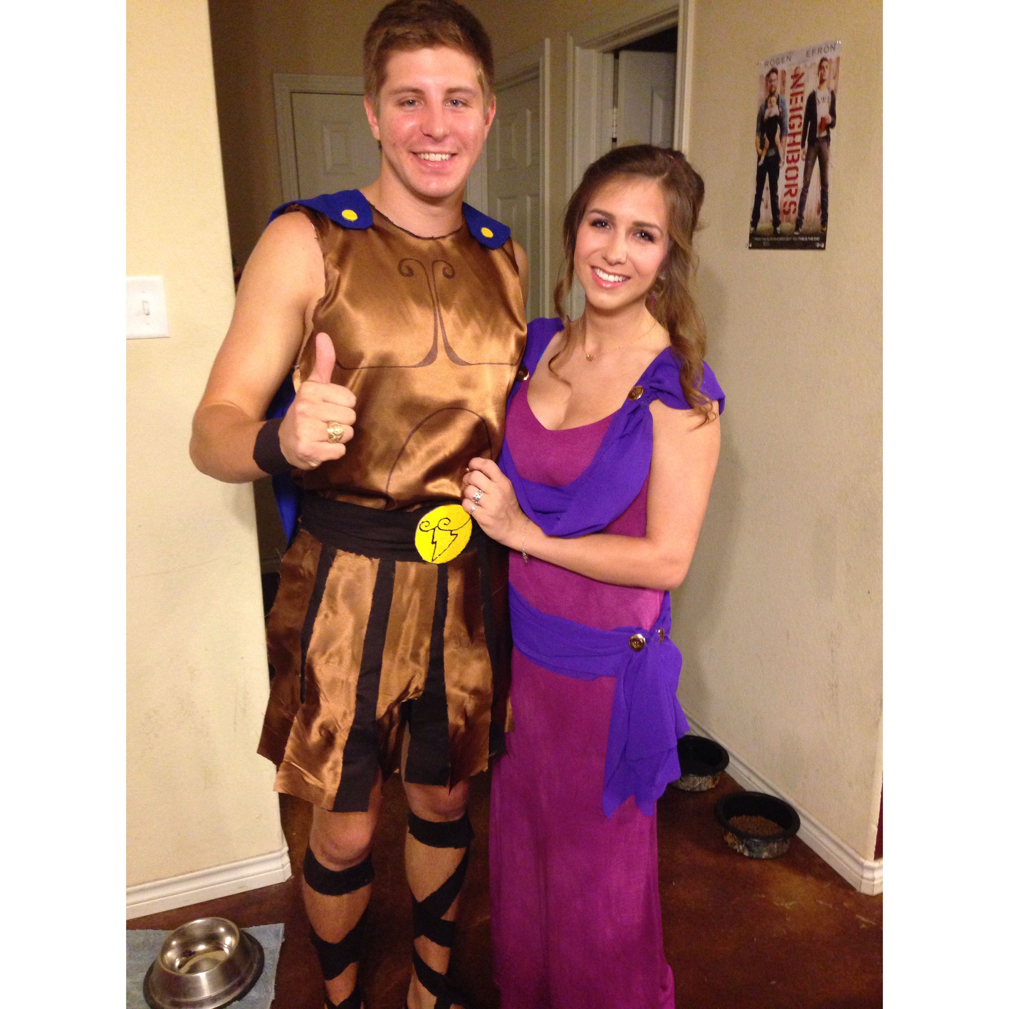 handmade hercules and megara halloween costumes hercandmeg zerotohero