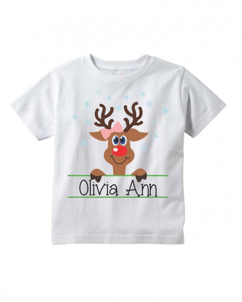 Toddler Baby Girl Buffalo Plaid Moose Funny Short Sleeve Cotton T Shirts Basic Tops Tee Clothes