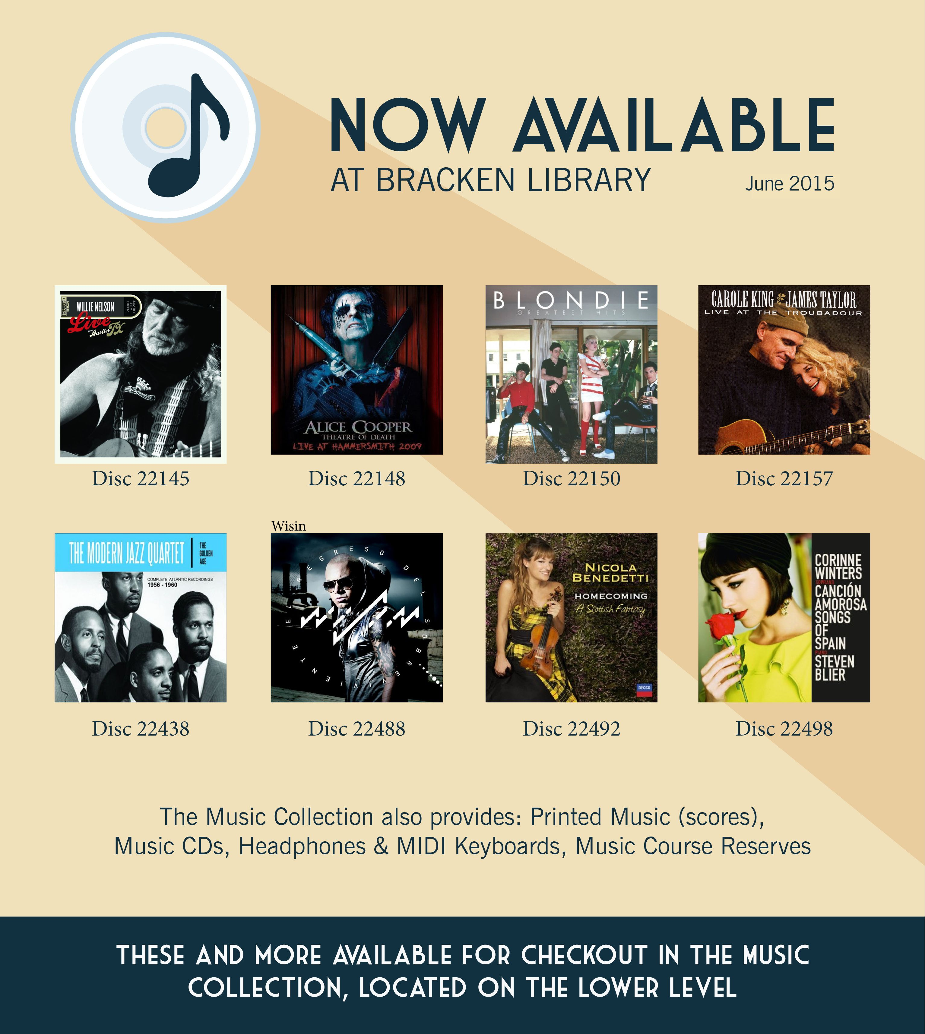 New Arrivals In Our Bracken Library Music Collection June 2015 Library Music Library Ball State University