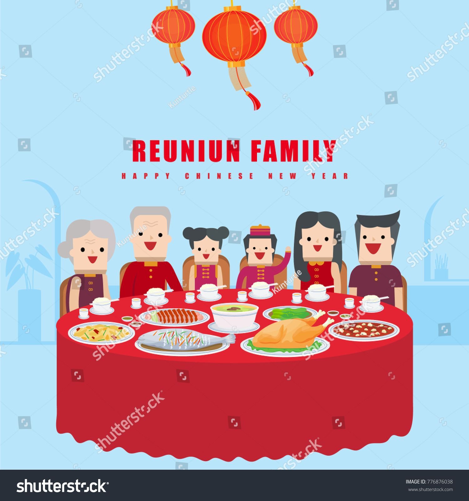Illustration Vector Set Of Fine Chinese Food Dish On Table And
