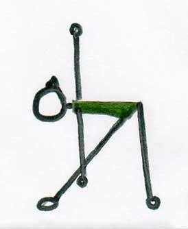 a cute stick figure of trikonasana for septembertriangle