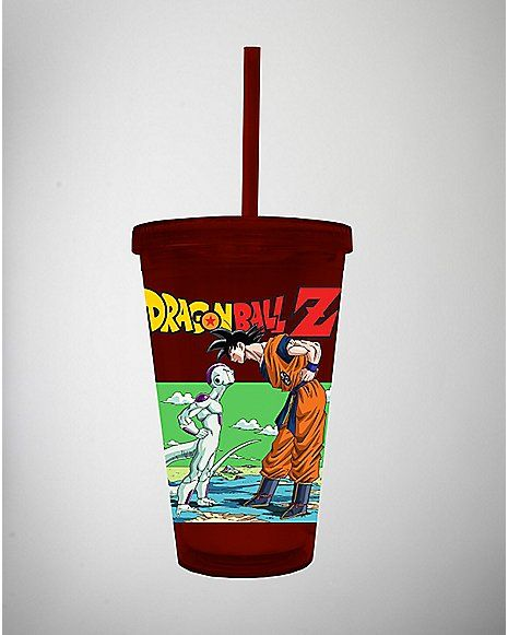 Roblox Straw Demon 16 Oz Dragon Ball Z Carnival Cup Spencer S Cup With Straw Dragon Ball Z Tumbler With Straw
