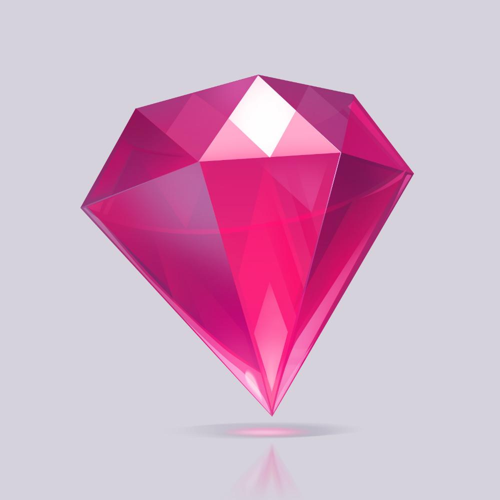 Artstation Diamond Icon Ju Ju Crystal Drawing Game Card Design Diamond Illustration