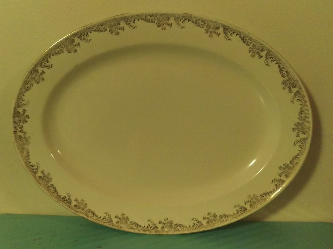 Vintage Edwin M. Knowles China Co. 22 Karat Gold Made In America ...