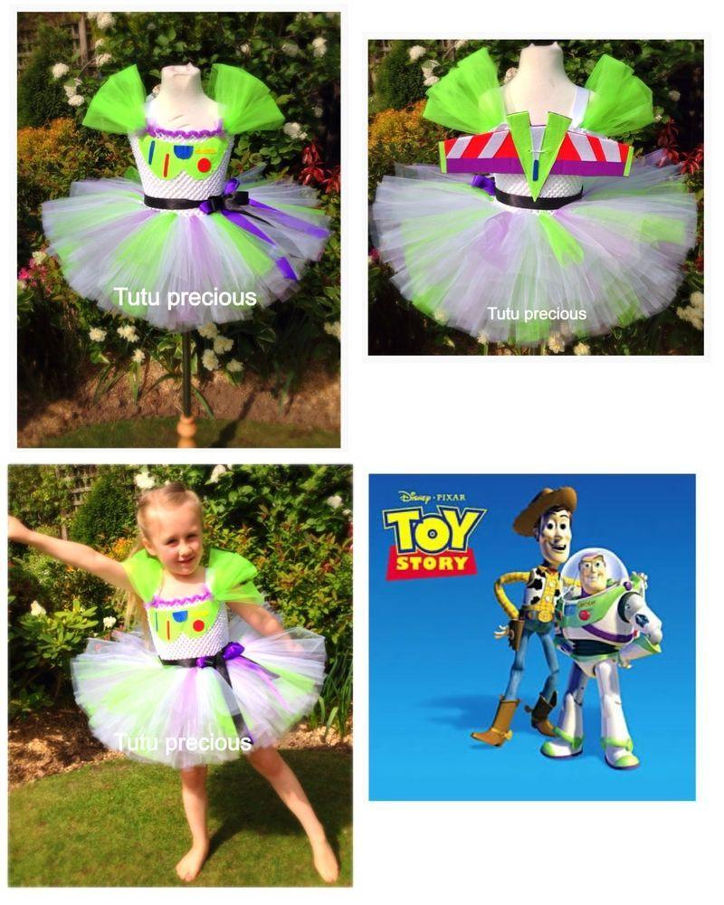 Buzz Lightyear Toy Story inspired tutu dress - dressing up costume ... 7f0bfe9cd69