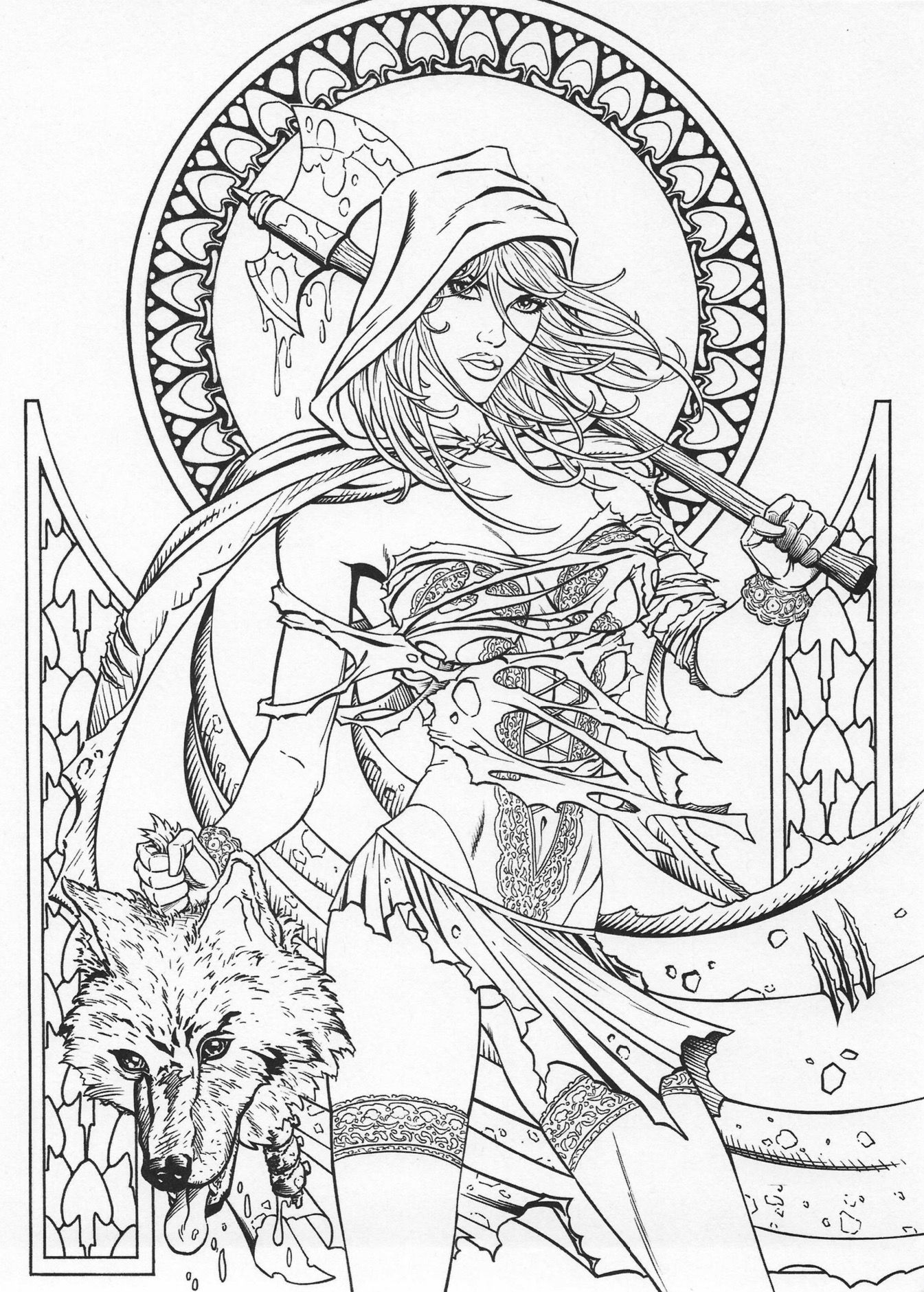 Grimm Fairy Tales Coloring Page Fairy Coloring Pages Fairy Coloring Detailed Coloring Pages