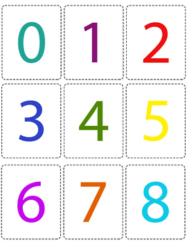 Numbers 1 100 Flashcards Printable Flashcards By Kayla Chew Printables Printable Flash Cards Color Flashcards Flashcards