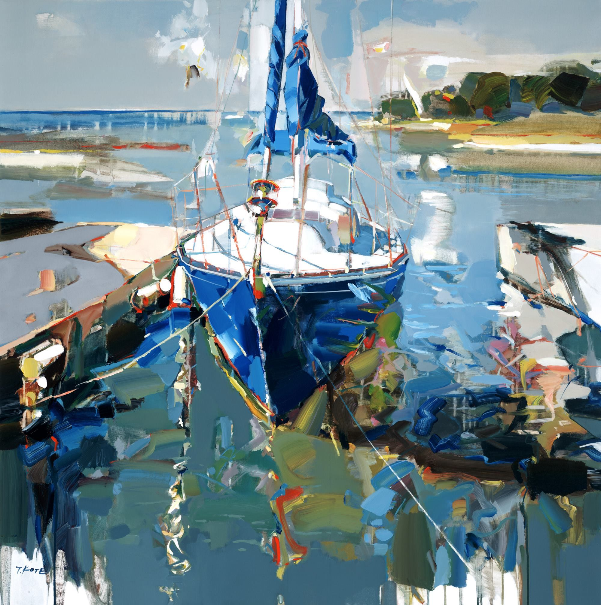 summer blues by josef kote josef kote seascapes marine pinterest peinture art et. Black Bedroom Furniture Sets. Home Design Ideas