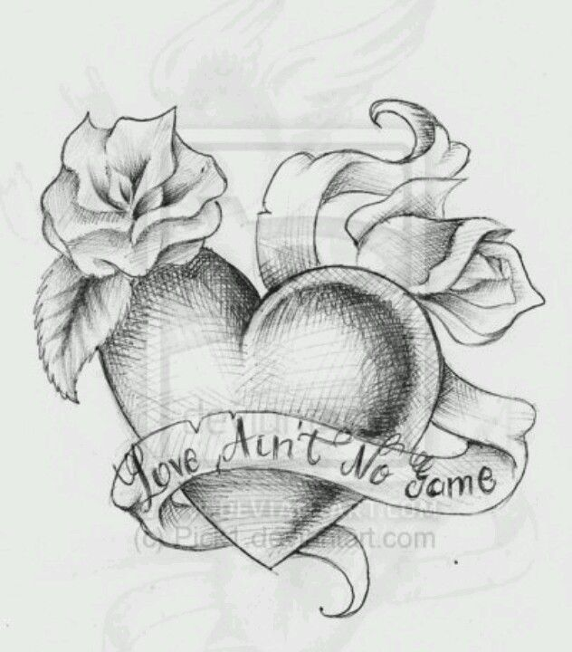 Corazon Heart Tattoo Designs Art Sketches Drawings