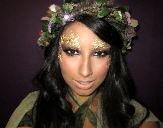 Gold eye makeup for mother nature costume - Wendy Alcala Blog ...