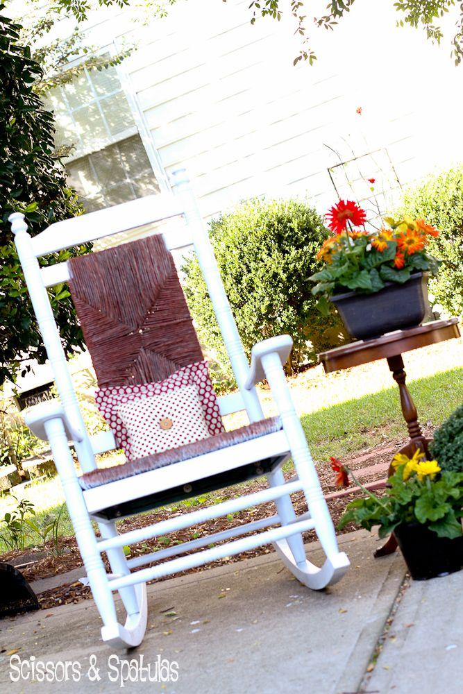 The Rescued Rocker Cracker barrel rocking chair, Diy