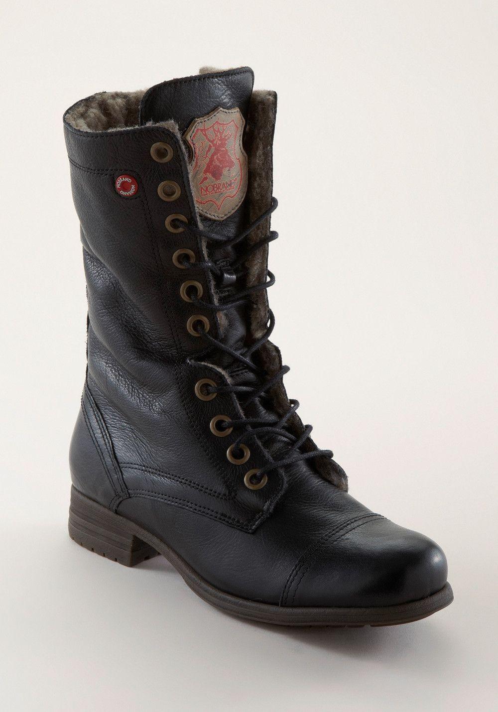 NOBRAND Shispare Leather black, Stiefel,
