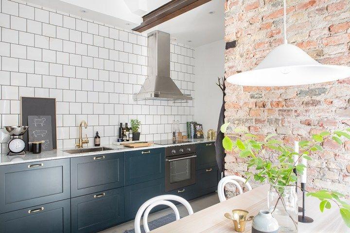 Revestimientos De Cocina Ladrillo Visto Cemento Pulido Marmol - Revestimientos-para-cocinas-modernas