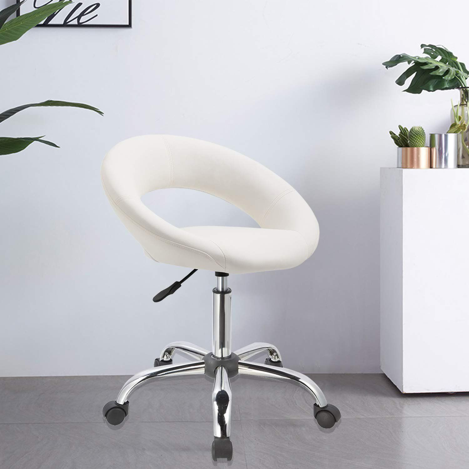 Duhome Home office Desk Chair Work Stool Crescent