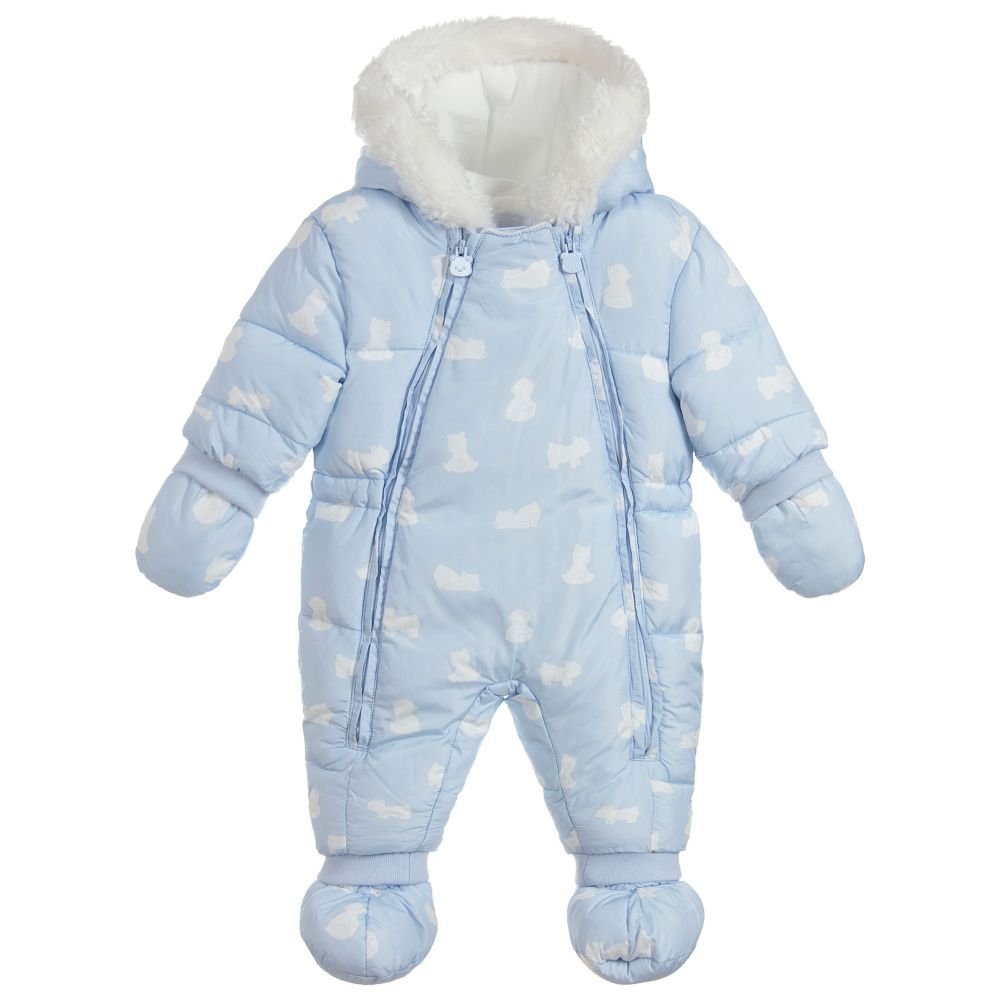 a036bd73f Mayoral Newborn Blue Polar Bear Snowsuit. Shop from an exclusive selection  of designer Snowsuits