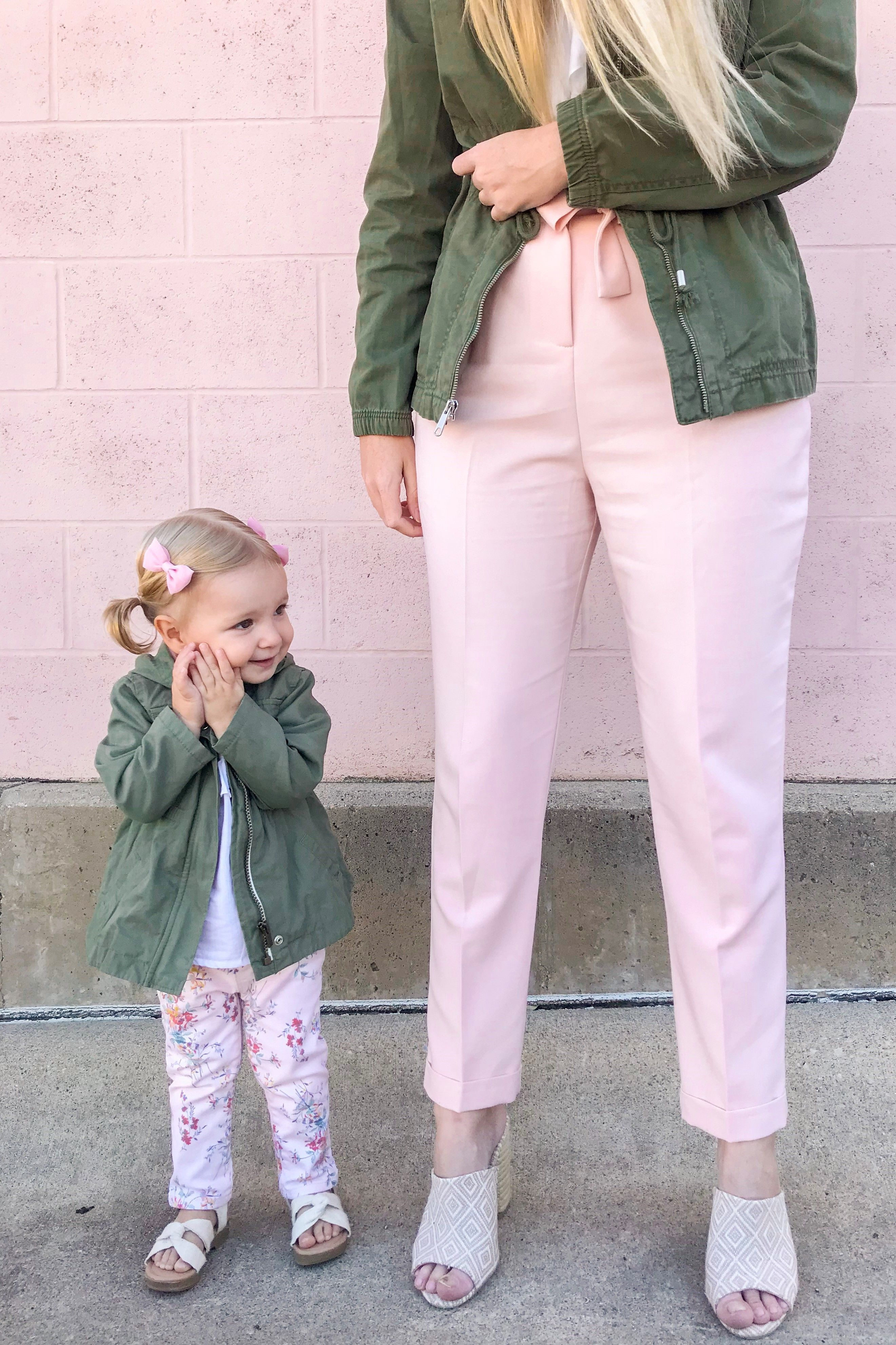 Khaki Anoraks Pink Pants Everley Me Mommy Me Style Blog Kids Fashion Trendy Kids Outfits Toddler Fashion