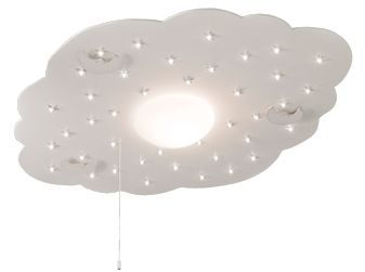Plafondlamp Babykamer Voorbeelden : Plafondlamp wolk met maan helder wit kinderkamer inspiratie