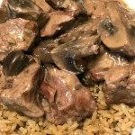 Photo of Crock Pot Stew Meat and Mushrooms in Wine Sauce