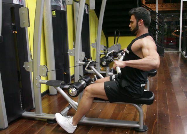 Remada Pronada na Polia. Grupos musculares: Costas, Antebraço, Bíceps. Execução…