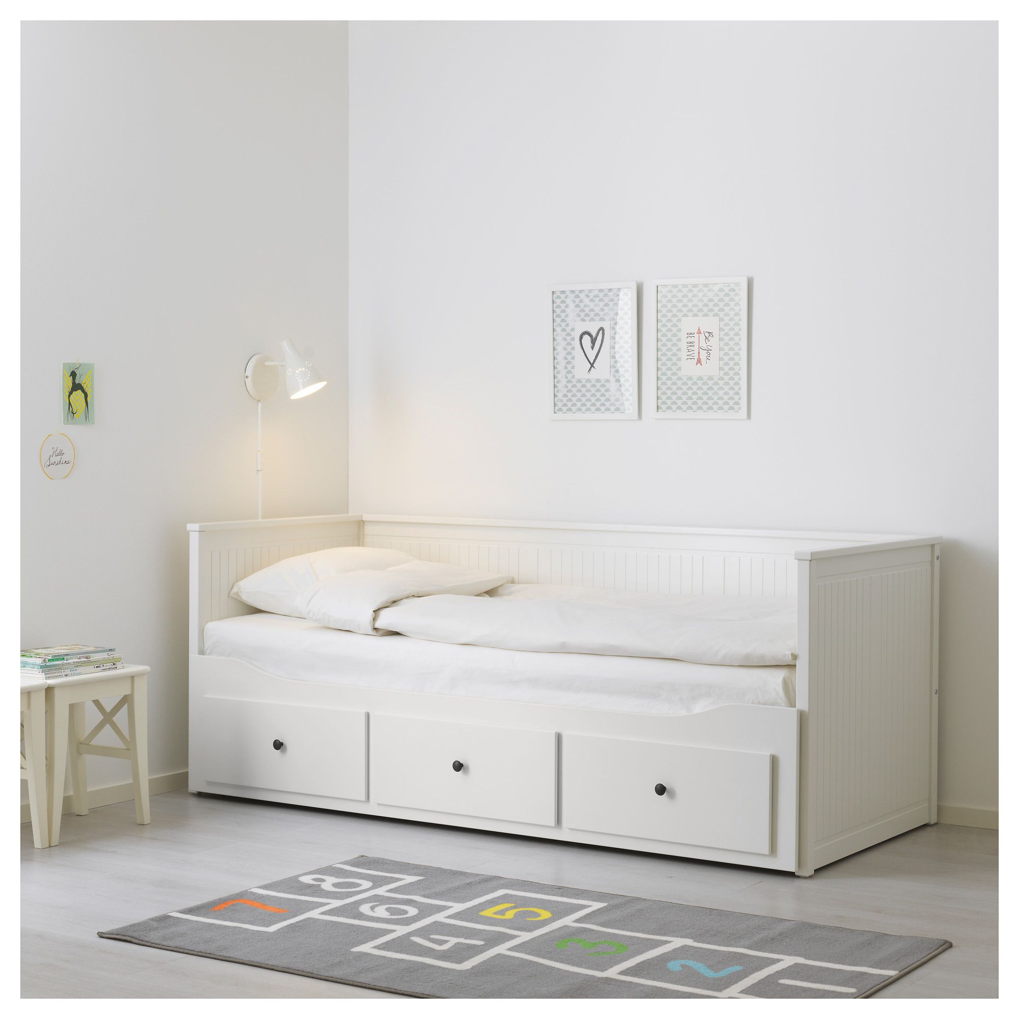 Hemnes Daybed Frame With 3 Drawers White Kid S Haven In