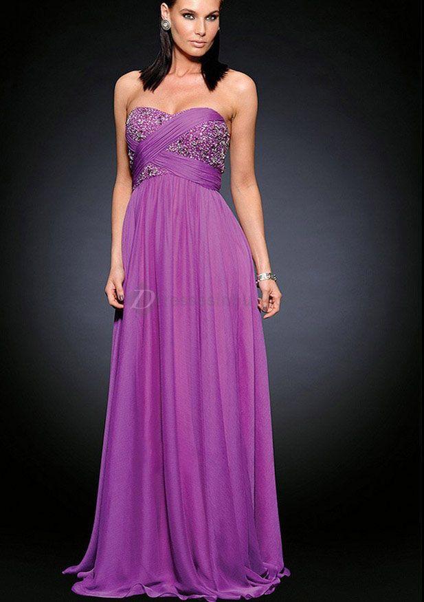 Long Purple Prom Dresses 2013