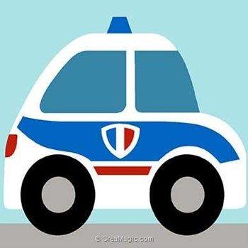 Voiture de police kit canevas debutant - Margot