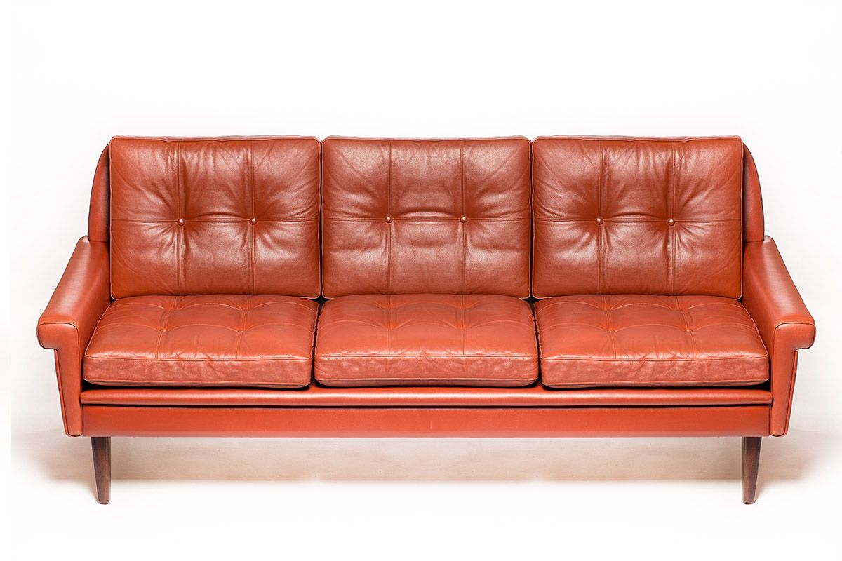 Vintage Danish Tan Leather Sofa By Svend Skipper For Skipper Furniture 1960s Vintage Leather Chesterfield Sofa Tan Leather Sofas Leather Sofa