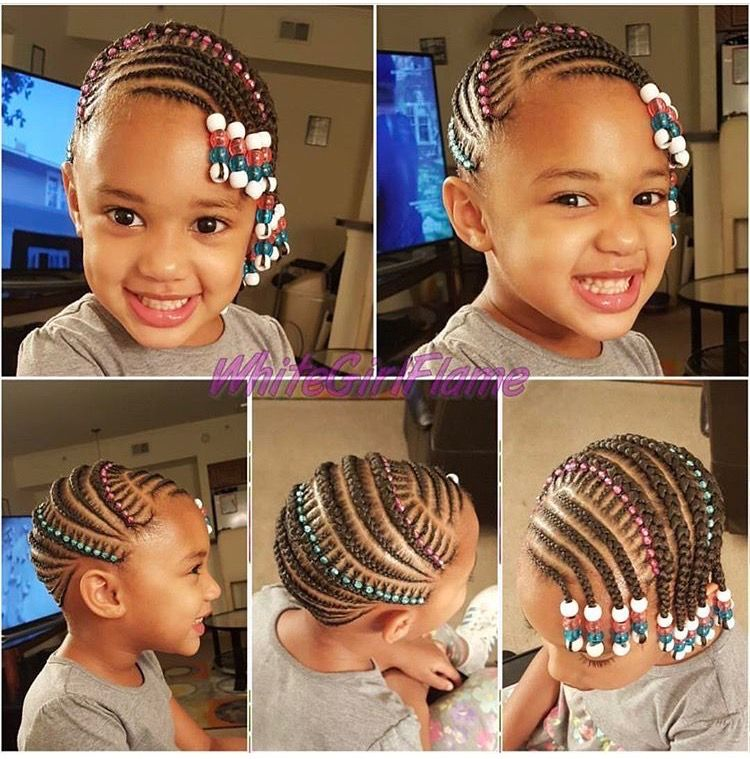 Children S Braids Black Hairstyles Kids Braids With Beads Braids For Kids Toddler Braided Hairstyles