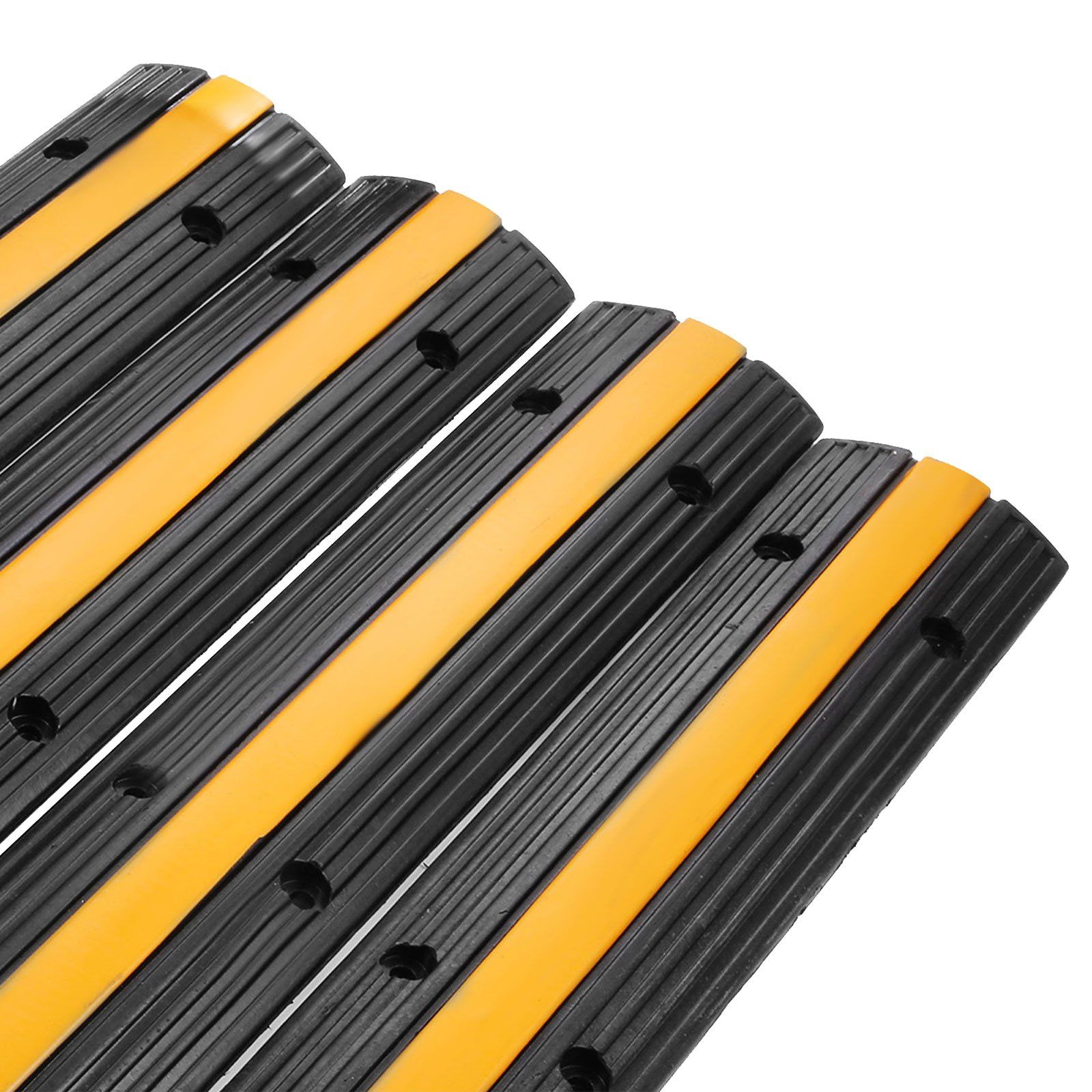 Shzond Extreme Rubber Single Channel Cable Protector Cable Ramps Protectors Cable Ramp Cover 4 Pack Cable Prote Cable Protector Electrical Equipment Speed Bump