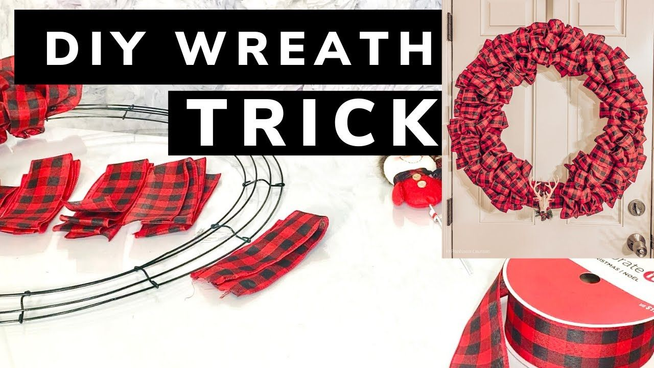 DIY Wreath Trick Anyone Can Make This Wreath YouTube