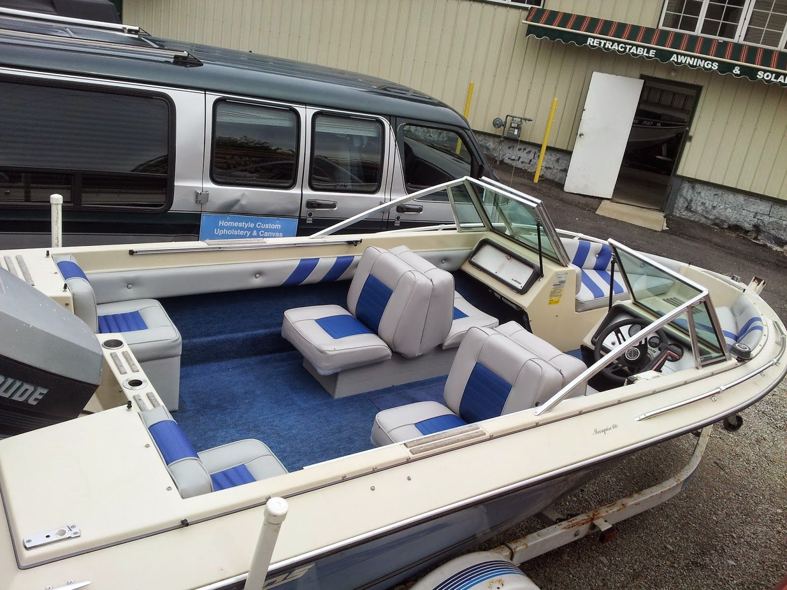 Two tone boat interiors google search boat stuffs pinterest boat interior and boating for How to restore a boat interior